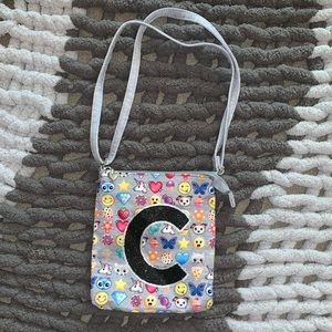 Girl's Justice Brand Emoji Bag with Letter 'Cute